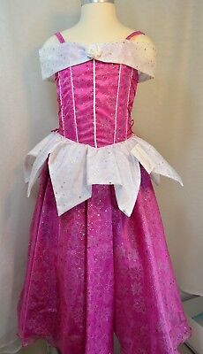Girl Princess Costume, Beautiful pink dress - Size 6-7, Movie inspired dress up