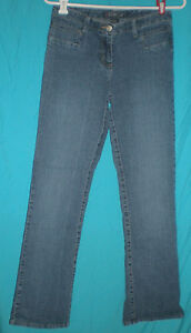 Baccini-Straight-Leg-Low-Rise-Stretch-Blue-Jeans-Sz-4-W-28-H-34-R-8-1-2-I-30-1-2