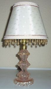 Murano-Glass-Gold-Dust-Boudoir-Lamp-W-Matching-Shade