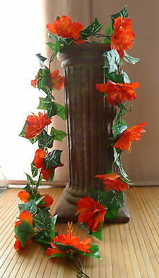 170 cm  Hibiskus Girlande  orange (Hibiskus-girlande)