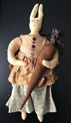Primitive Folk Art Doll Rabbit Springtime Doll