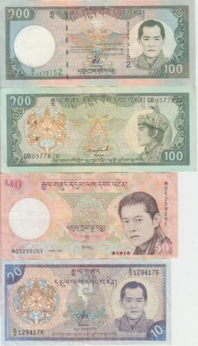 Bhutan banknote  collection of 8 different notes, VF or BETTER