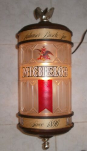 Vintage Michelob Beer Lighted Wall Lamp Anheuser Busch Advertising Sign