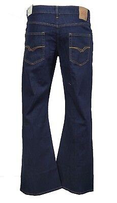 Men's LCJ Denim Super Flare Jeans Stretch Indigo Indie 70s Bell Bottoms LC16  Stretch Denim Flare Jeans