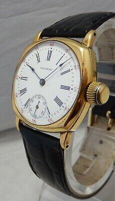 Waltham Vintage 0s Pocket Watch Conversion Gold Filled Wrist Watch 1891 Model