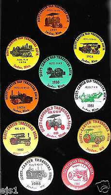 Old Threshers Ass'n of Scott & Carver Counties, MN/ 11 Pins/Buttons, Jordan, MN