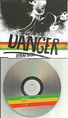 Erykah Badu Danger W  Rare Radio Mix Europe Promo Dj Cd Single Usa Seller 2003