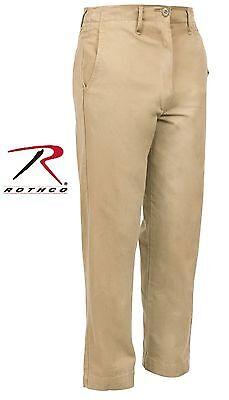 Mens Washed Cotton Khaki Chino Pants - Rothco Military-Style Vintage Chinos 2346 Vintage Washed Chino