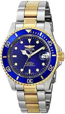 Invicta Automatic Hombre Reloj Watch Gold Oro Silver Plata Crystal Hand Pulsera