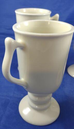 4 Hall USA/Pedestal Cup/Irish Coffee Mug/Creamy White/ 1272/Tall/Gorgeous  - $19.95