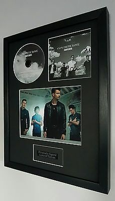 The Courteeners-Original Signed Concrete Love CD-Certificate-Luxury Framed