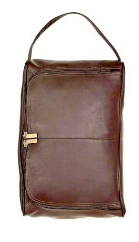 Winston Collection Full Grain Leather Handcrafted Deluxe Shoe Bag Multiple Color