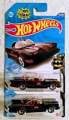 2020 Hot Wheels L Case - #197 TV Series Batmobile - Batman Lot of 2