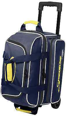 Storm Streamline 2 Ball Roller Bowling Bag with Wheels Color Navy & Grey NEW