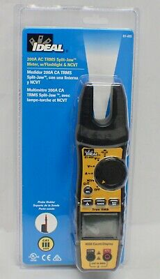 Ideal 61-405 200a Ac Trms Split-jaw Meter Wflashlight Ncvt - New - Sealed
