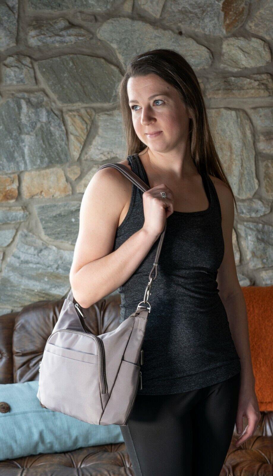 RFID Anti Theft Handbag Cross body Handbag Nutmeg Color Travelon Brand NEW Clothing, Shoes & Accessories