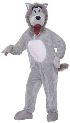 Wolf Grey Mascot Adult Costume Plush Animal Theme Party Funny Cute (Cute Wolf Kostüm)