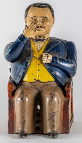 ORIGINAL 19th Century Tammany Mechanical Bank  Original Paint Circa 1873