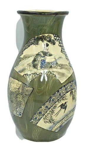 Unusual Japanese Meiji Satsuma Vase By Taizan Yohei