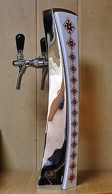 New Beer Tap Faucet Draft Lines Double Tower Keg Kegerator Ukrainian Lights