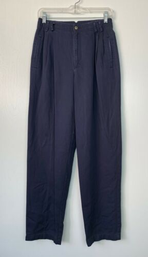 Vtg Liz Claiborne Sport High Waisted Pleated Tapered Trouser Pants 28x30 Sz 10