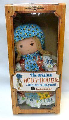 "Holly Hobbie Knickerbocker Rag Doll 8-1/2"" MIB Unused Case Fresh! 1976 #3420"