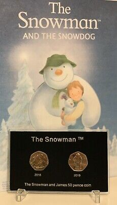 2018 2019 UK The Snowman BUNC 50p Coin In Display Case Ideal For Christmas #