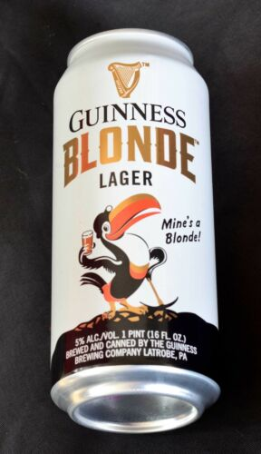 Guinness Blonde Lager Beer Can. Special edition. Empty. 16 oz. USA.