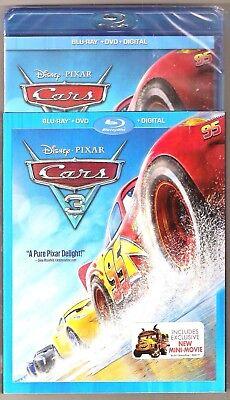 Disney Pixar Cars 3 (Blu-ray + DVD + Digital HD) Movie BRAND NEW with Slip Cover