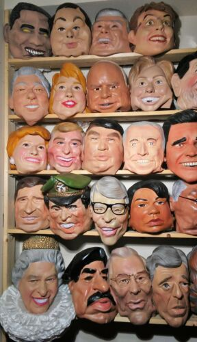 Cesar Mask Collection 52 total Politicians Presidents rare