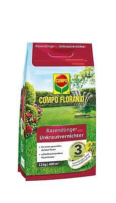 Compo Floranid Lawn Fertilizer plus Weed Killer, 12 KG