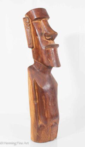 Fine Easter Island Rapa Nui Moai Wood Carving, Fabulous Provenance Collection 3