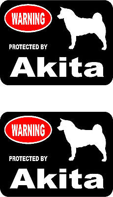 2 protected by Akita dog car home ...