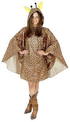 Giraffe Party Poncho für Erwachsene Karneval Fasching Party - Party Kostüme Für Erwachsene