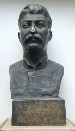Very Rare Antique 1933 Figurine rare Bust Stalin Василик USSR marked Bronze