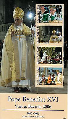 Ghana 2013 MNH Papal Retrospective Pope Benedict XVI Visit Bavaria 2006 4v M/S