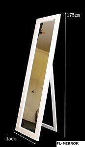 Rectangular Cheval Free Standing Floor Mirror with Shelf Whit Richlands Brisbane South West Preview