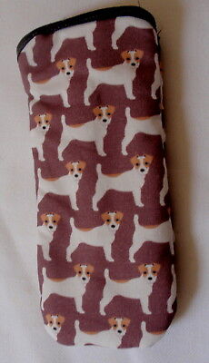 JACK RUSSELL TERRIERS - GLASSES CASE - cotton- ideal small gift