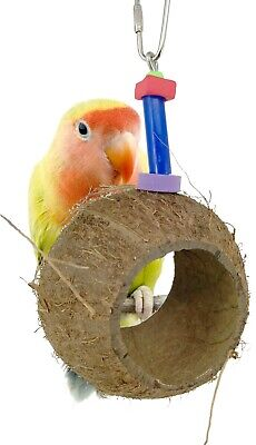 1232 COCO NEST BIRD TOY parrot cage toys cages conure cockatiel budgie finch