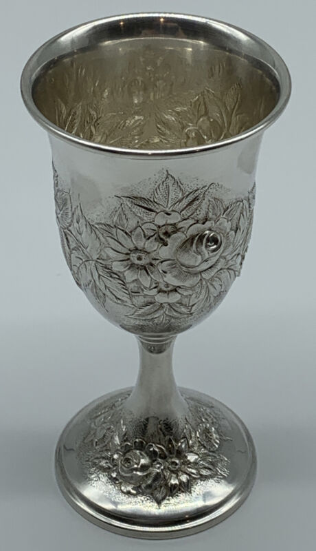 Sterling Silver Goblet Repousse S.Kirk & Son # 73F
