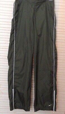 Nike Women Activewear Nylon On Windbreaker Shell Pants M  8 - 10 Olive Green