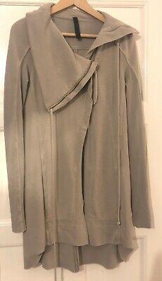 Ilaria Nistri Drape Long Sleeve Thick Jersey Jacket Cardigan Jumper Ecru Small
