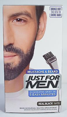 JUST FOR MEN MUSTACHE & BEARD BRUSH-IN COLOR GEL APPLICATION KIT (5 COLORS) Just 5 Colorant
