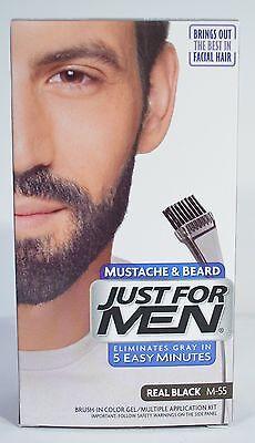 JUST FOR MEN MUSTACHE & BEARD BRUSH-IN COLOR GEL APPLICATION KIT (5 COLORS)