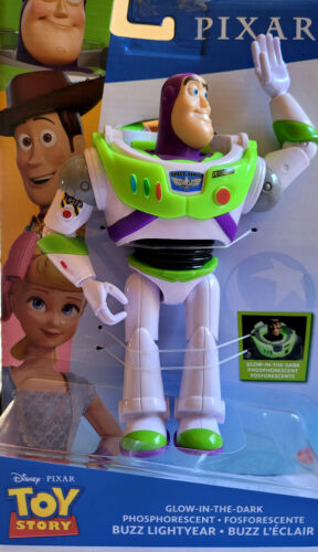 "Disney Pixar Toy Story BUZZ LIGHTYEAR GLOW-IN-THE-DARK highly posable 7"" figure"