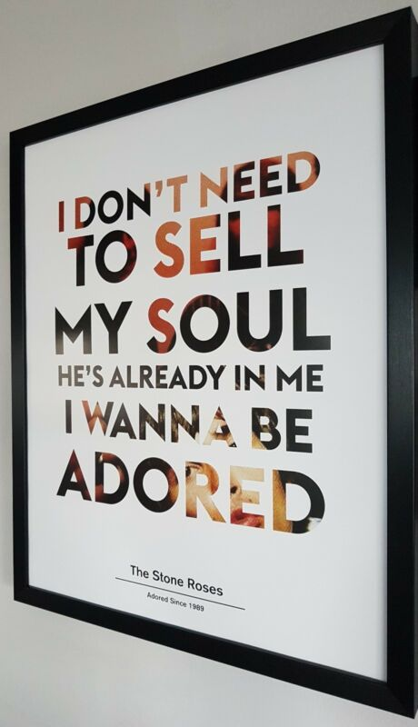 IAN+BROWN-THE+STONE+ROSES+Framed+Limited+Edition+Print-I+Wanna+Be+Adored
