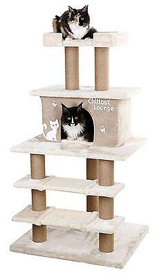 Katzen Kratzbaum Chillout Lounge mit XXL Katzenhöhle für große Katzen Katzenbaum