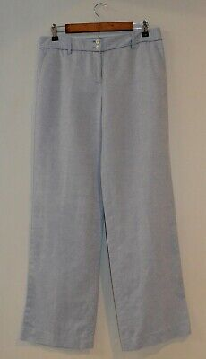 The Limited Women's Linen Blend Pants Modern Trouser Light Blue Size 6