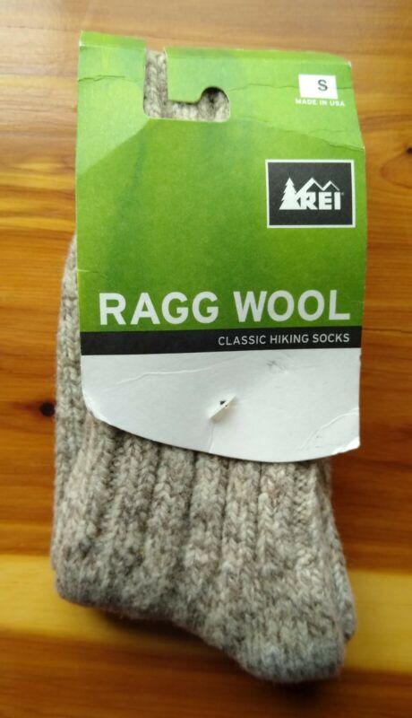 REI Beige Ragg Wool Classic Hiking Socks Size S Women