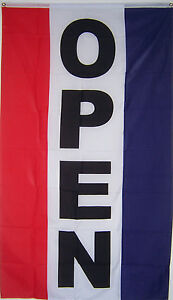 LOT-OF-5-NEW-3ft-x-5-VERTICAL-OPEN-STORE-SIGN-BANNER-FLAG-priority-mail-ship